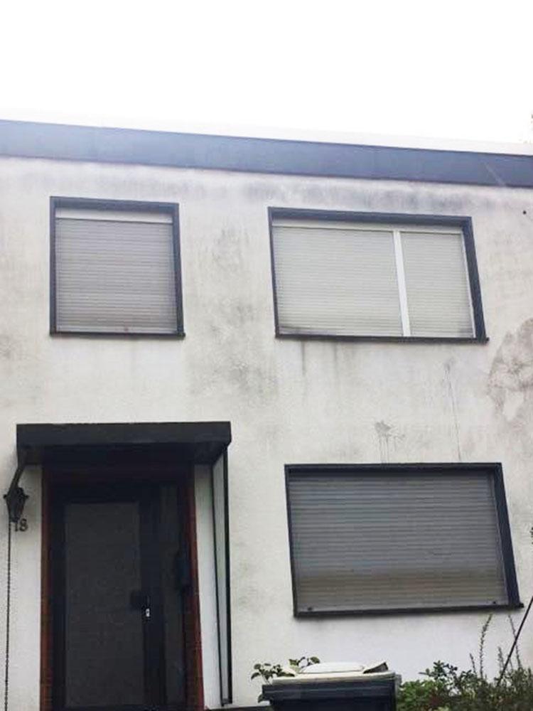 Vor der Fassadenreinigung